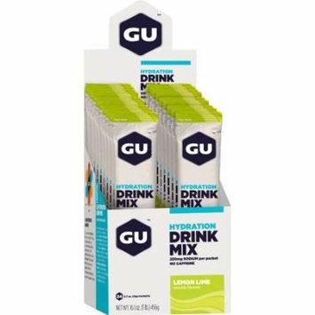 GU Hydration Drink Mix: Lemon Lime, Box of 24
