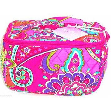 Vera Bradley Travel Cosmetic Case Bag Pink Swirls