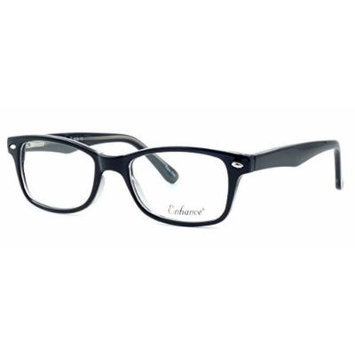 Enhance Optical Designer Eyewear :: 3926 Eyeglasses in Black-Crystal ; DEMO LENS