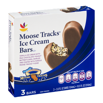 Ahold Moose Tracks Ice Cream Bars - 3 CT