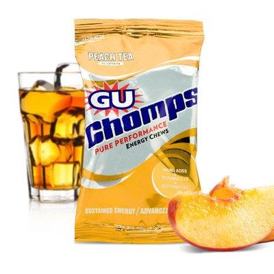 G.U. GU Chomps Energy Chews, Peach Tea, 16-Count