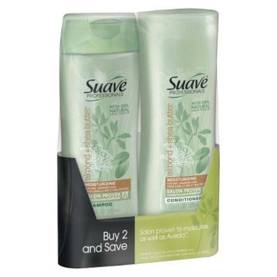 Suave Almond & Shea Butter Shampoo & Conditioner 12.6 oz, Pack of 2