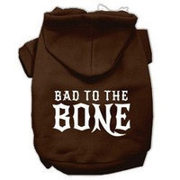 Mirage Pet Products Bad to the Bone Dog Pet Hoodies Brown Size Lg (14)