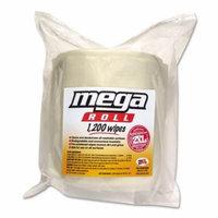 2XL Corp Mega Roll Wipes Refill, 8 x 8, White, 1200/Roll, 2 Rolls/Carton TXL L420