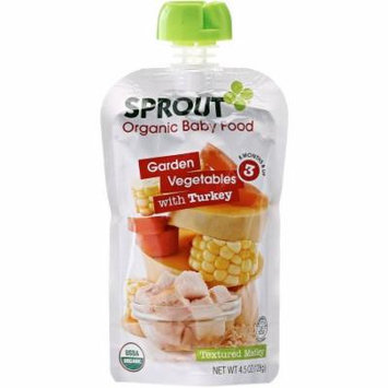 Sprout Garden Vegetables with Turkey Organic Baby Food, 4.50 oz, (Pack of 10)
