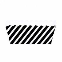 Dress My Cupcake Striped Rectangle Loaf Pan (Set of 6), Black