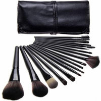 Bliss & Grace Professional Black Make-Up Brush Set, 18 pc