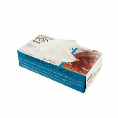 Bulk Buys Disposable Poly Gloves, Case of 4