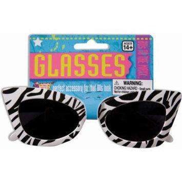 Zebra Print Cat Eye Sunglasses