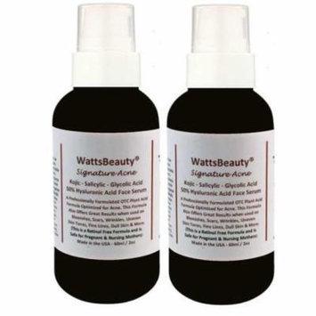 Watts Beauty Signature Hyaluronic Acid Gel Serum with Salicylic, 4 oz - Pack of 2