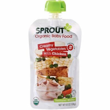 Sprout Creamy Vegetables with Chicken Organic Baby Food, 4.50 oz, (Pack of 10)