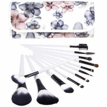 Bliss & Grace Professional Black Floral Make-Up Brush Set, 12 pc