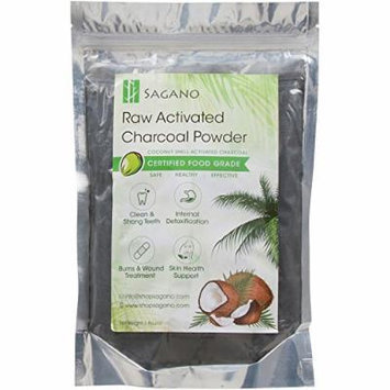 Best Activated Charcoal Powder by Sagano - Premium Food Grade Raw Coconut Carbon Bulk - More Effective than Hardwood Activated Charcoal - 100% Natural - Use for Teeth Whitening, Digestion, Detox