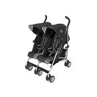 Maclaren Twin Triumph Stroller - Black-Charcoal
