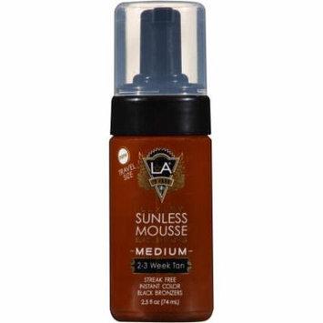 LA Tan Luxury Black Bronzing Medium Sunless Mousse, 2.5 fl oz