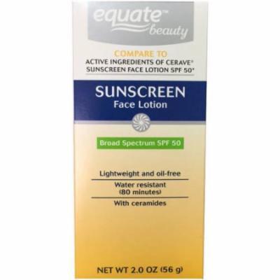 Equate Beauty Sunscreen Face Lotion, SPF 50, 2 oz