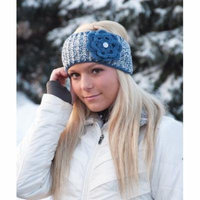 Mary Maxim Knit or Crochet Headband - Grey
