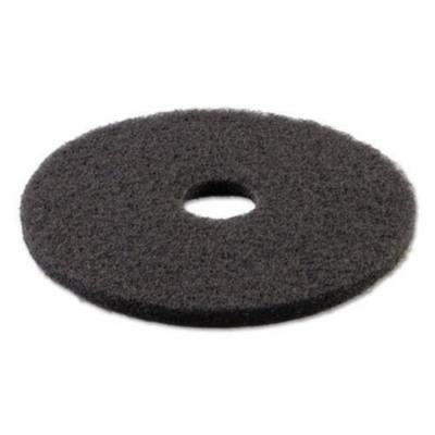 Boardwalk Standard 21-Inch Diameter Stripping Floor Pads, Black