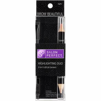 Salon Perfect Brow Beautiful Highlighting Duo Eyebrow Pencil, Light, .10 oz