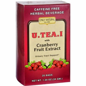 Only Natural Tea - Urinary Tract Support - U-Tea-I - with Cranberry Fruit Extract - 20 Bags