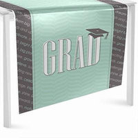 Con-grad-ulations Mint - Graduation Party Table Runner - 24