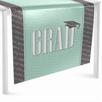 Con-grad-ulations Mint - Graduation Party Table Runner - 24