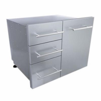 Sunstone Grills Outdoor Kitchen 30'' Liquid Propane Combo Triple Drawer