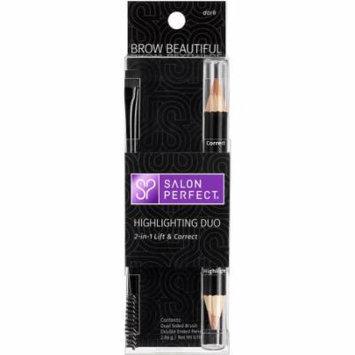 Salon Perfect Brow Beautiful Highlighting Duo Eyebrow Pencil, Dark, .10 oz