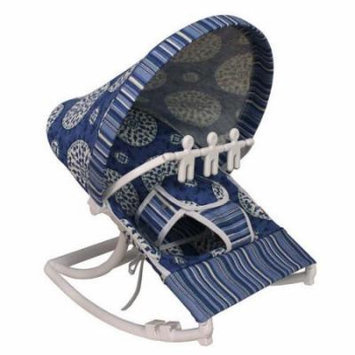 Hoohobbers Medallion Blue Rocking Infant Rocker Seat