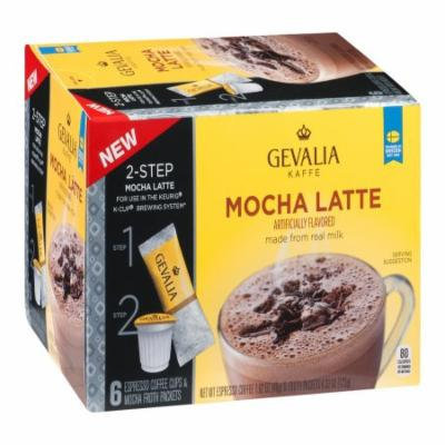 Gevalia Mocha Latte Keurig Cup Coffee, 5.95 OZ (Pack of 6)