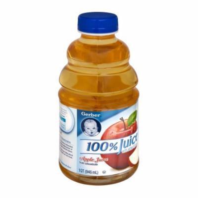 Gerber 100% Juice Gerber Apple Juice, 32 FL OZ (Pack of 6)
