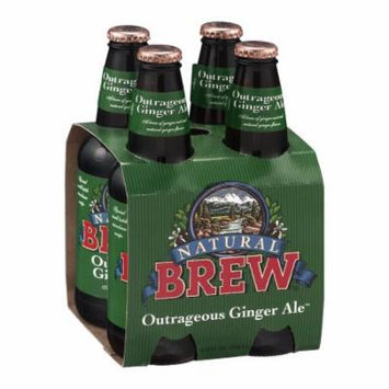 Natural Brew Ginger Ale, Outrageous, 12 FL OZ (Pack of 6)