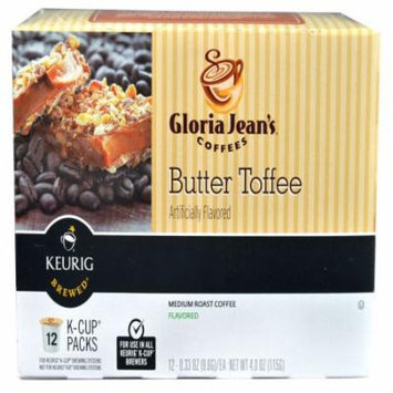 Green Mountain Coffee Gloria Jean's Butter Toffee Cofee K-Cups, 12 CT (Pack of 6)