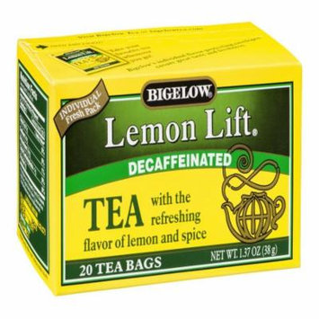Bigelow Decaf Lemon Lift Tea Bags, 20 CT (Pack of 6)