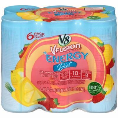 V8 V-Fusion +Energy Strawberry Lemonade Beverage