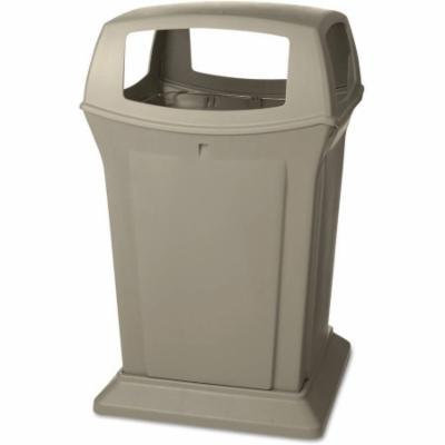 Rubbermaid Commercial Ranger Beige Structural Foam 45 Gallon Square Fire-Safe Container