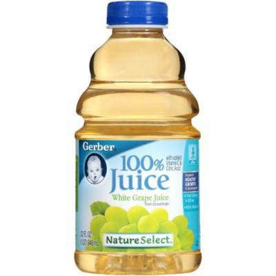 Gerber 100% Juice 100% White Grape Juice, 32 FL OZ (Pack of 6)
