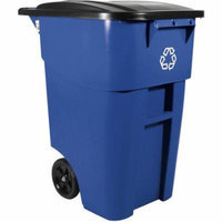 Rubbermaid Blue Commercial Brute Rollout Container, 50 gal