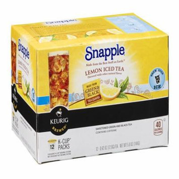 Snapple Lemon Iced Tea K Cups, 12 CT (Pack of 6)