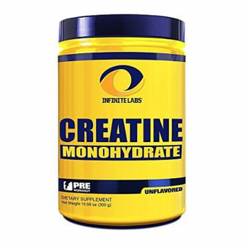 Infinite Labs Creatine Monohydrate Supplement, 10.58 oz, 300 grams, 60 servings per container