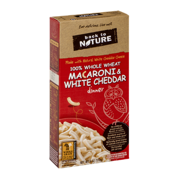 Back To Nature Macaroni & White Cheddar Dinner 100% Whole Wheat