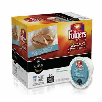 Folgers Vanilla Biscotti K Cup Coffee, 3.81 OZ (Pack of 6)