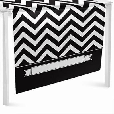 Chevron Black and White - Party Table Runner - 24