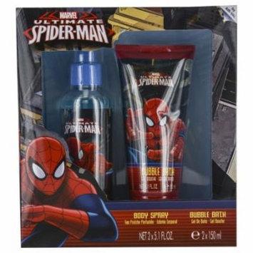 Spiderman Set-Body Spray 5 Oz & Shampoo Shower Gel 5 Oz By Marvel
