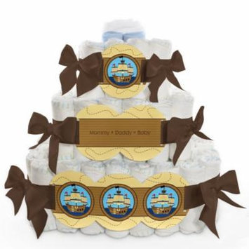 Baby Diaper Cake - Ahoy Mates! - Pirate - 3 Tier