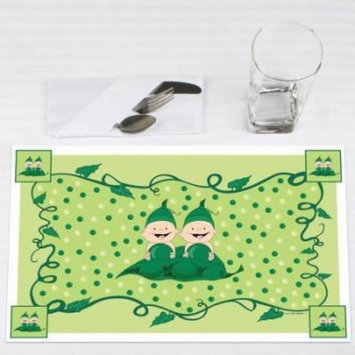 Twins Two Peas in a Pod Caucasian - Party Placemats - Set of 12