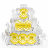 Baby Diaper Cake - Chevron Yellow - 3 Tier