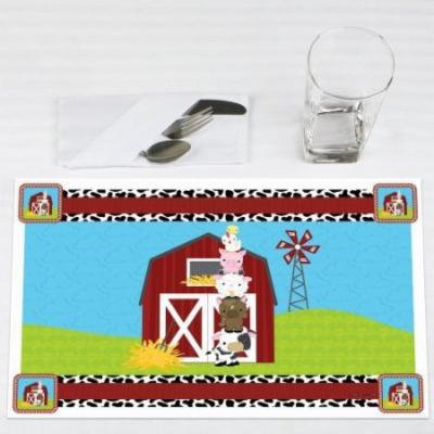 Farm Animals - Party Placemats - Set of 12