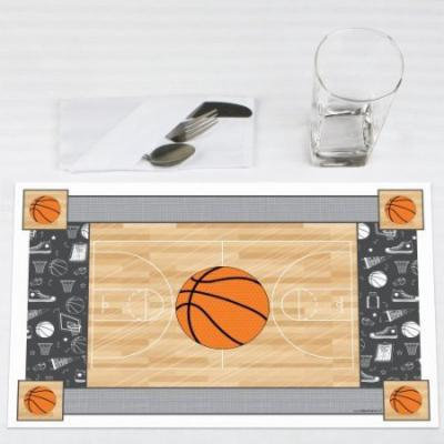 Nothin' But Net - Basketball - Party Placemats - Set of 12