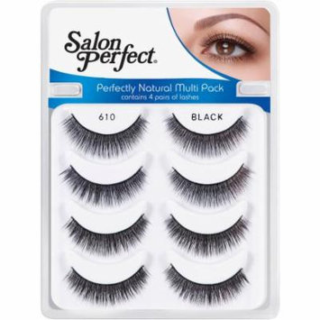 Salon Perfect Perfectly Natural Multi Pack Eyelashes, 610 Black, 4 pr